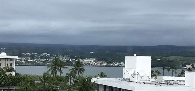 Day1 in Hilo. 69 degrees & liquid sunshine ☔️good for 🌴🍫. Let's get to work🤠 #Selfawareness #pushpastfears #adventure #growing #positivethinking #start #hilobay